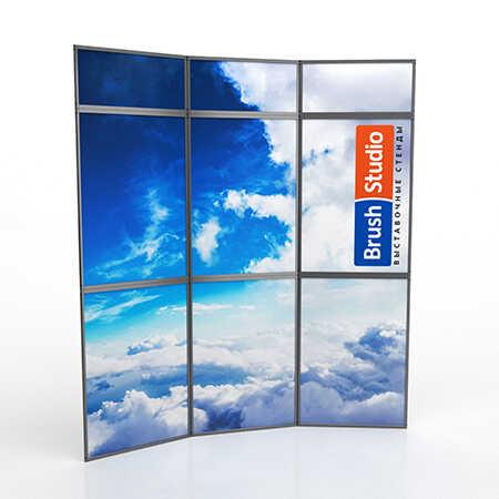 Выставочный стенд Mobistand Fold-Up 3x2 рамки с фризом