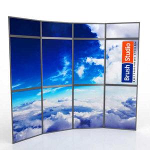 Выставочный стенд Mobistand Fold-Up 4x2 рамки с фризом